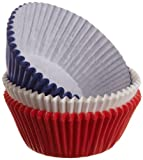 Wilton Assorted Red/White/Blue Standard Baking Cups, 75 Count