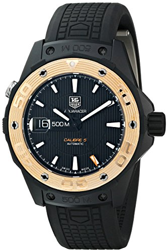TAG Heuer Men s WAJ2182.FT6015 Aquaracer Analog Display Swiss Automatic Black Watch