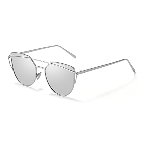 4d45f828b3f LIUXUEPING New Korean Men And Women With The Same Paragraph Personality  Transparent Sunglasses Fashion Big Box Sunglasses Elegant (Color   Silver)   ...