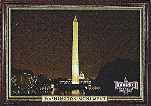 Elite Print Shorts (WASHINGTON MONUMENT Leaf Decision 2016 Series 2 Politics Presidential Collectible GOLD ELITE Very Rare Short Print Trading Card)