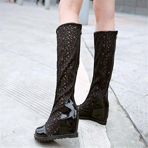 ... Fanessy Femme Sandales Escarpins d été Automne à Talon compensé Femme  Chaussure Romaine en Lace c5c9c0134150