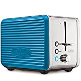 BELLA Linea Collection 2 Slice Toaster with Extra Wide Slot, Teal (14095)
