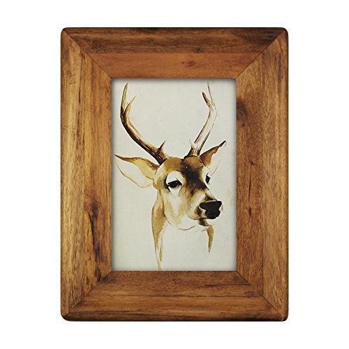 icheesday Wooden Picture Frame,4 X 6 inch Vintage Real Wood Photo Bumper Frame with - Frame Picture Wood