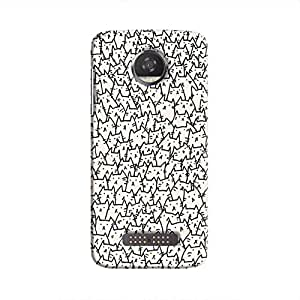 Cover it up Catzzzz Hard Case for Motorola Moto Z2 Play - Multi Color
