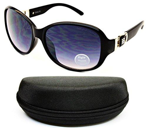 D679-cc Designer Eyewear Oversized Thick Sunglasses (O3126B Black/Silver-Smoked, uv400) - Black Dg Oversized Designer Sunglasses