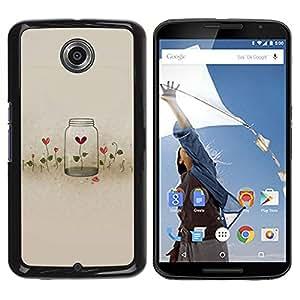 Be Good Phone Accessory // Dura Cáscara cubierta Protectora Caso Carcasa Funda de Protección para Motorola NEXUS 6 / X / Moto X Pro // Flowers Locked Heartbreak Deep