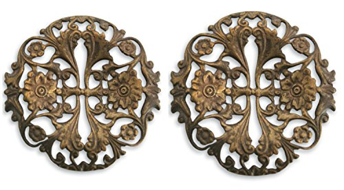 Vintaj Garden Trellis Filigree YOU GET Two! F420-40mm Natural Brass, Jewelry Making, NEW PRODUCT