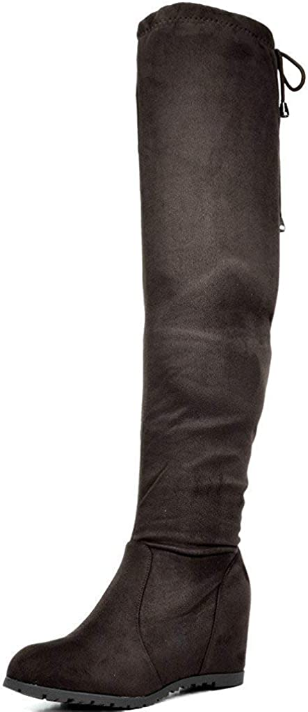 DREAM PAIRS Women's Over The Knee Thigh High Stretch Boots