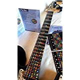 NeckNotes Guitar Trainer | Color Coded Fretboard Fret Map Note Stickers for Beginner to Advanced for Learning Guitar | Standard Edition
