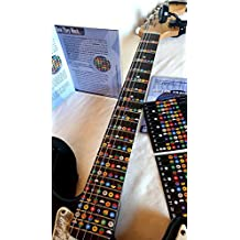 NeckNotes Guitar Trainer color coded note strips for learning guitar