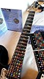 NeckNotes Guitar Trainer | Color Coded Fretboard Fret Map Note Stickers for Beginner / Learning Guitar | Standard Edition