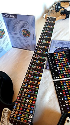 NeckNotes Guitar Trainer | Color Coded Fretboard Fret Map Guitar Note Stickers for Beginner to Advanced Learning of Guitar and Music Theory | Standard Edition (For Acoustic and Electric Guitars) ()