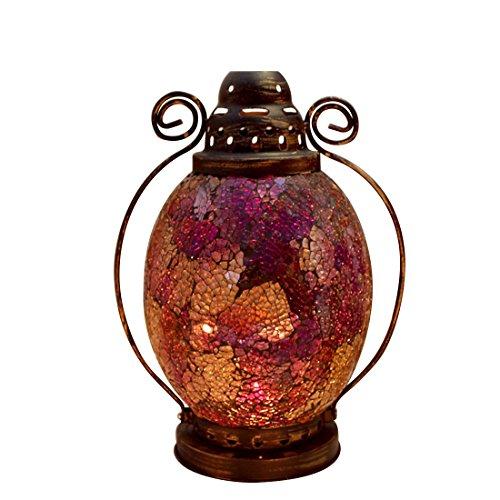 Fjfz Decorative Vintage Partylite Colorful Mosaic Glass Wrou