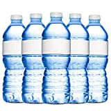 Quality Label company Water Bottle Labels - 40 Blank, Waterproof, Wrap Around, Printable Labels 9.75'' x 1.25''