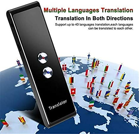 Maserfaliw Xiaomi Translator Travel Translator Device Supports 14 Languages for Travelling Abroad Learning Shopping Business Translations Silver