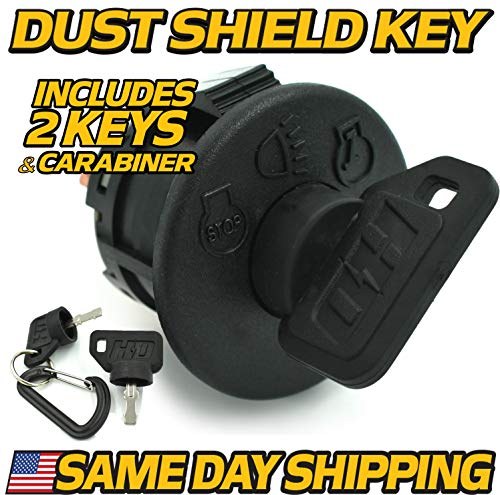 (Cub Cadet, MTD, Troy-Bilt 925-1741, 725-1741 Ignition Switch - Includes 2 Key & Free Carabiner - HD Switch)