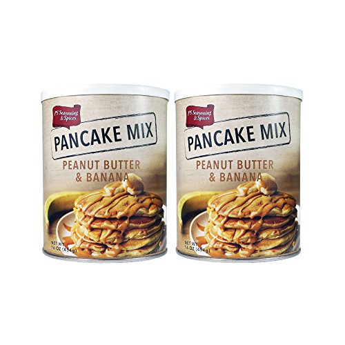 PS Seasoning & Spices Pancake & Waffle Mix, 16 oz (2 Pack) (Banana & Peanut Butter)