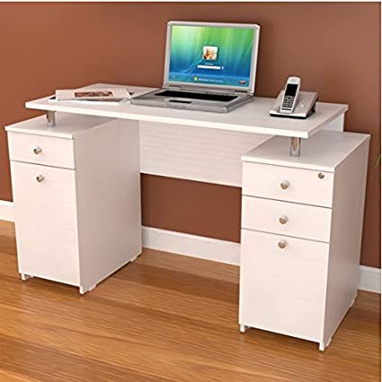 Amazoncom Inval America Modern Elevated White Computer Writing