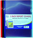 Report Folders - Plastic - 3 pk - 9'''' x 11'''' Case Pack 60 Computers, Electronics, Office Supplies, Computing