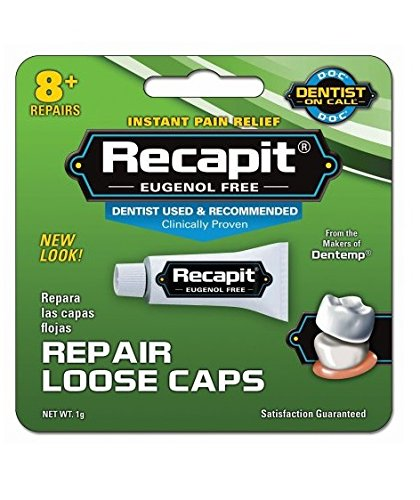 Recapit Repair Loose Caps, 1g Per Package (2 Pack) by MAJESTIC DRUG CO INC