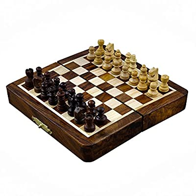 Good Friday Deals Magnetic Folding Chess Board Travel Game Set Dimesion 5 Inches (Palm Size) - Gifts for Kids & Adults