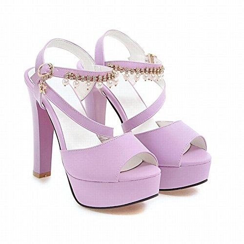 Platform Women's Ankle Mee Sandals Purple Strap Shoes Buckle Fashion YvYt7qx