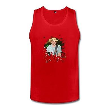6d94453b3813d Amazon.com  JiJa Jason Aldean Men Tank Tops Red XXL  Clothing