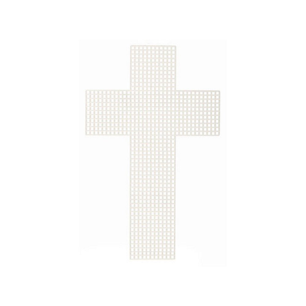 Cross-Shaped Plastic Canvas - 3 inches (10 Pieces/Pack) Darice 4336936889