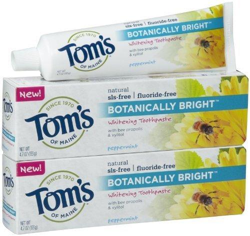 Tom's of Maine Botanically Bright, Peppermint - 4.7 oz - 2 - Toothpaste Sodium Sulfate Free Lauryl