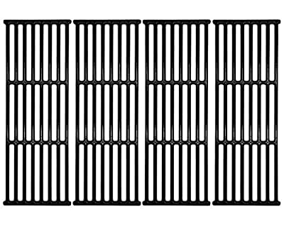 "Hongso 17 3/8"" Porcelain Polished Cast Iron Cooking Grates Replacement for Broil-Mate, Broil King 9625-67, 9625-84, Baron 320, Baron 340, Baron 420, Baron 440, Huntington and Sterling, PCB005, 4Pcs"