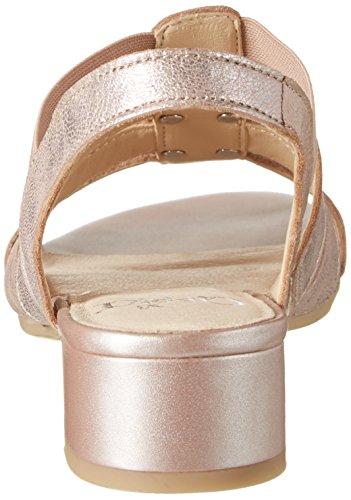 Caprice 28200, Sandalias con Cuña para Mujer Rosa (Rose Metallic)