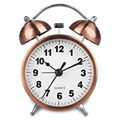 Hersent Retro Twin Bell Alarm Clock Vint...