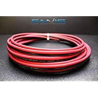 10 GAUGE 25 FT RED BLACK SPEAKER ZIP WIRE AWG CABLE POWER STRANDED COPPER CLAD BY ENNIS ELECTRONICS