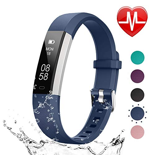 LETSCOM Fitness Tracker HR, Heart Rate Monitor Watch with Sleep Monitor Step Counter Pedometer, Waterproof Smart Fitness Watch, Activity Tracker for Kids Women and - Band Monitor Calorie