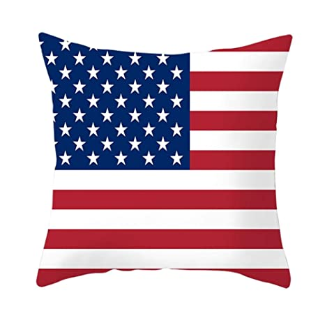 Oddity Funda de Almohada de Bandera Estadounidense ...