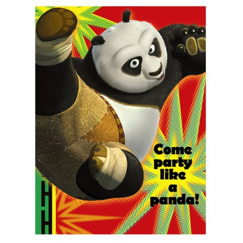 (Kung Fu Panda '2' Invitations w/ Envelopes)