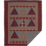 VHC Brands Chili Pepper Red Holiday Rustic & Lodge Decor Andes Quilted Throw For Sale