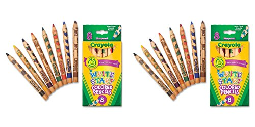 Crayola Write Start Colored Pencils,8 Pack, 2 Packs - 1