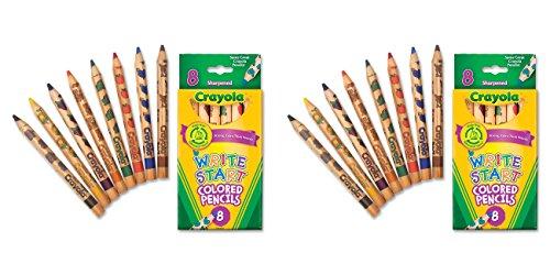 Crayola Write Start Colored Pencils,8 Pack, 2 Packs - 1