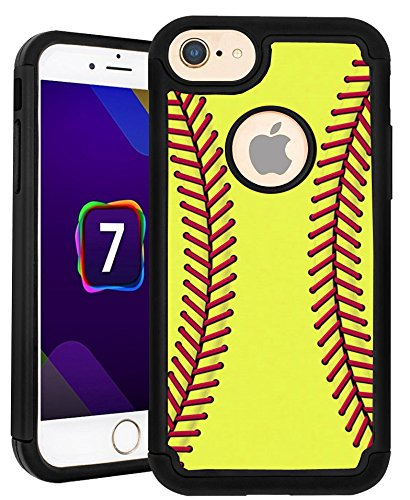 CorpCase iPhone 7 Case / iPhone 8 Case - Softball / Hybrid Unique Case With Great - Softball Warehouse