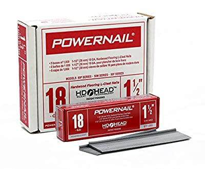 """Powernail 18ga 1-1/2"""" L-Style PowerCleats(Case of 5-1000ct boxes)"""