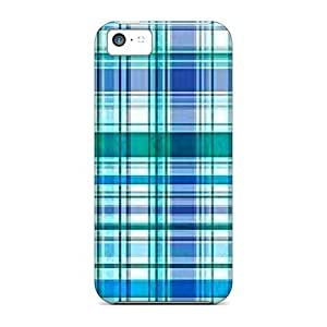 DustinHVance Case Cover Protector Specially Made For Iphone 5c Green Blue Plaid