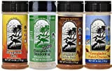 Everglades Seasoning No MSG Sampler Cactus Dust Heat Fish & Chicken Rub 6 Oz Bottles 8 Oz All Purpose
