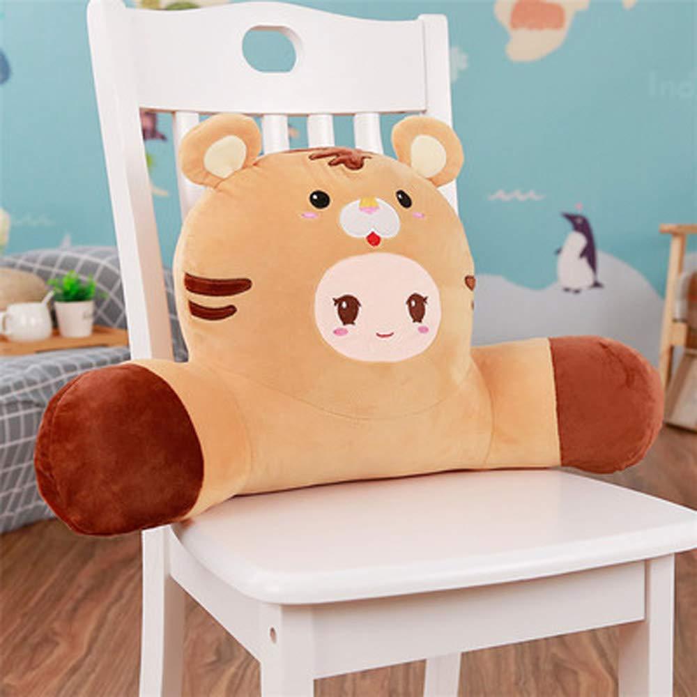 lightlamp 12 Zodiac Removable Washable Lumbar 12 Zodiac Cartoon Animal Cute car Waist Cushion Office Pillow Card (Tiger)