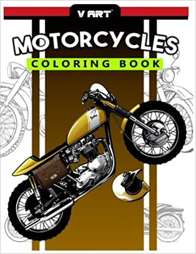 Amazon.com: Motorcycles Coloring Book: Pattern to Color for Bike ...