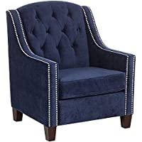 Tivoli Bella Ink Velvet Tufted Armchair
