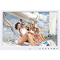 BORUL 15 Inch Large LED Screen High Definition Digital Photo Frame with Remote Controller (White)