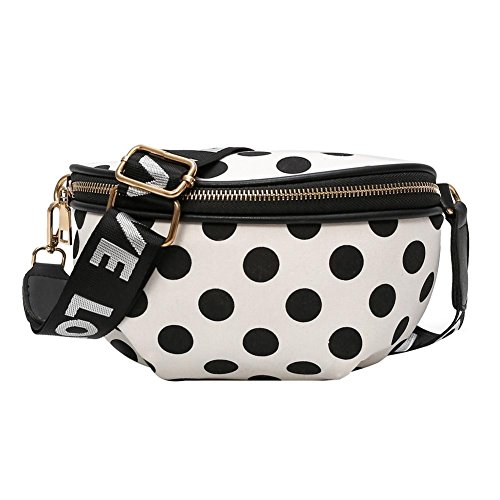 Nylon Casual Dots White Pack Waist Chest Crossbody Shoulder Bags Widewing Women Belt Fanny qFEgCgw