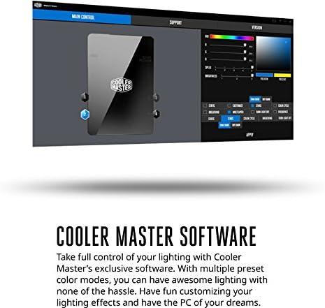 masterfan Pro 120 aire equilibrio RGB- 120 mm ventilador silencioso de caso, Hybrid-Design Ventilador para ordenador casos, refrigeradores de CPU, y Radiadores 120 Air Balance Combo w/ Controller Hub Air Balance Combo