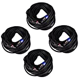 Seismic Audio B12SP100-4Pack 100-Feet Pro Audio Banana to Speakon Cable 12-Gauge, 4 Pack